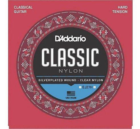 Encordoamento Violão D'Addario Classic EJ-27H Tensão Alta Nylon