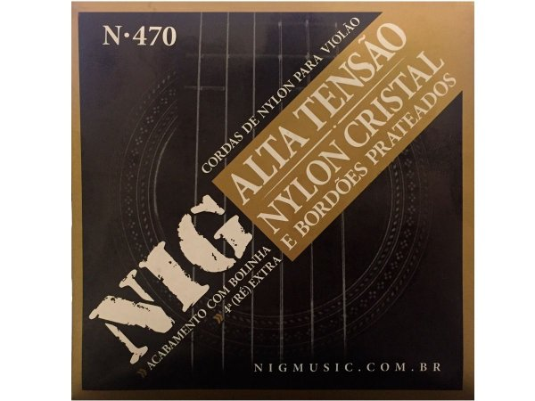 Encordoamento Violão NIG N-470 Nylon Cristal Tensão Alta
