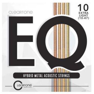 Encordoamento Violão Aço Cleartone EQ Hybrid Metal Extra Leve 10