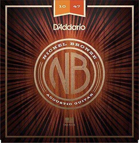 Encordoamento Violão D'Addario NB1047 Nickel Bronze Extra Leve 10-47