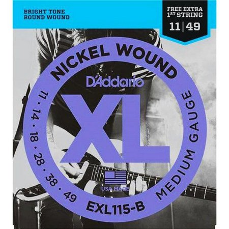 Encordoamento Guitarra D'Addario EXL-115B Medium 11-49