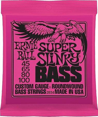 Encordoamento Baixo Ernie Ball Super Slinky 2834 4 Cordas 045