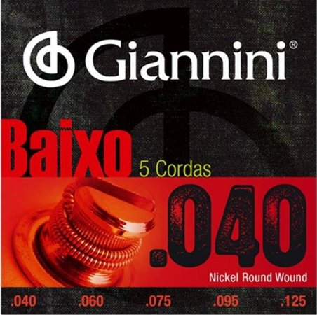 Encordoamento Baixo Giannini 5 Cordas 040 GEEBRL5