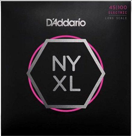 Encordoamento Baixo D'Addario NYXL Cordas 45-100