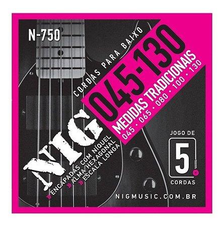 Encordoamento Baixo NIG N-750 5 Cordas 045