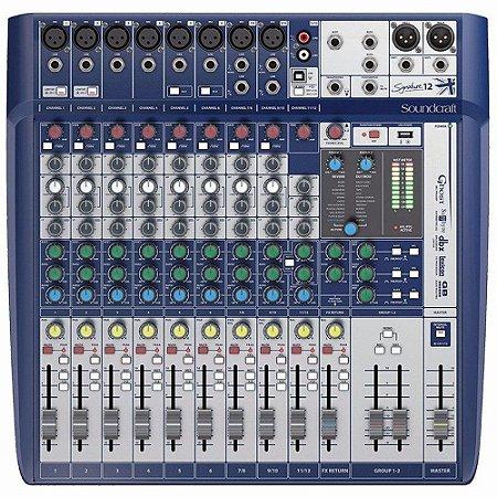 Mesa de Som Digital Soundcraft Signature 12 Canais USB
