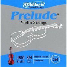 Encordoamento Violino D'Addario Prelude Tensão Média 3/4