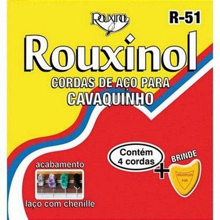 Encordoamento Cavaquinho Aço Rouxinol R-51 Acabamento Chenille