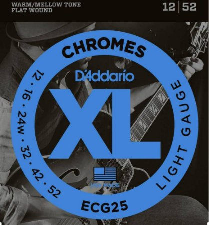 Encordoamento Guitarra D'Addario ECG-25 Light 12-52