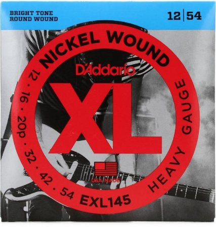 Encordoamento Guitarra D'addario EXL145 Heavy Gauge 12-54