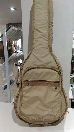 Capa Extra Luxo Violão Folk JPG Nylon Amassado Marfim