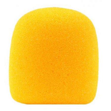 Espuma para Microfone Globo Amarela Lavável