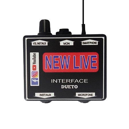 Interface de Áudio New Live Dueto Para Smartphone