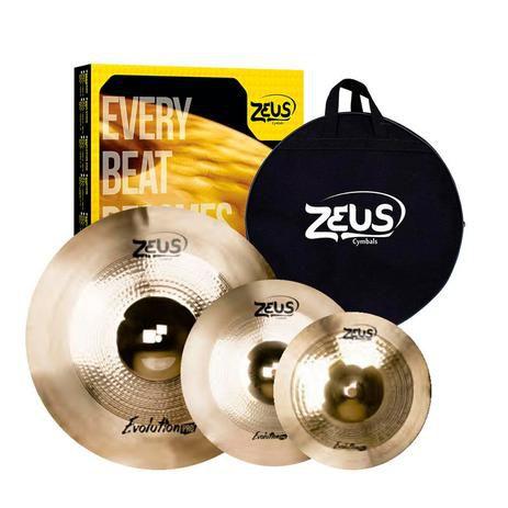 """Set Prato Zeus Evolution Pro Set C 14"""" 16"""" 20"""" Com Bag"""