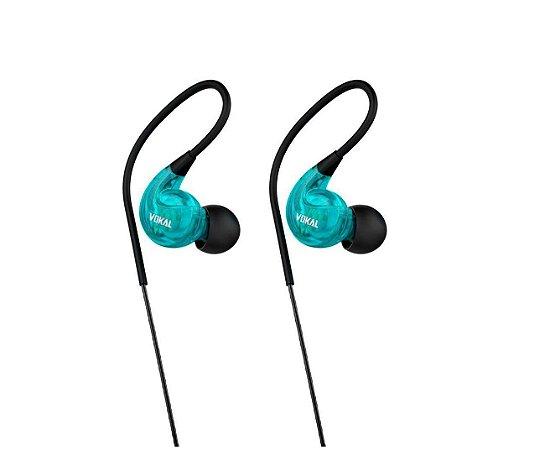 Fone de Ouvido In-Ear VOKAL E40 Azul