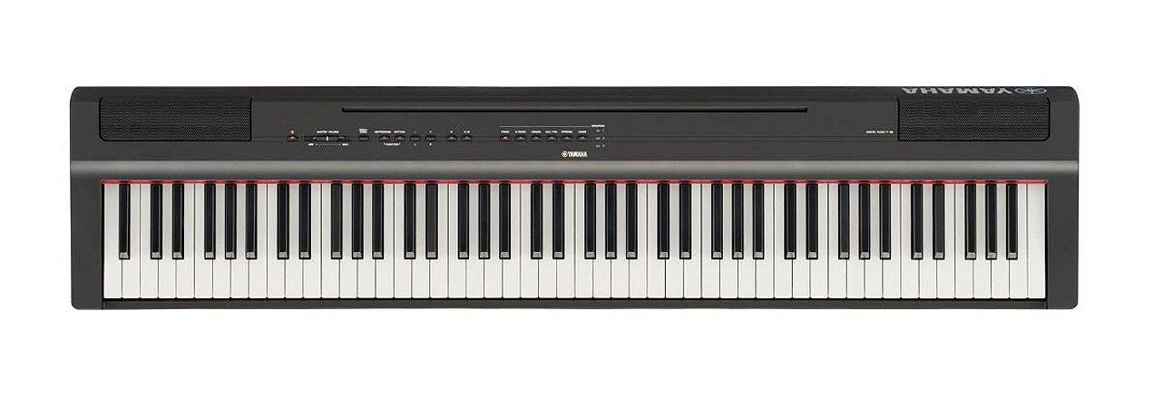 Piano Digital Yamaha P-125, 88 teclas, com fonte bivolt