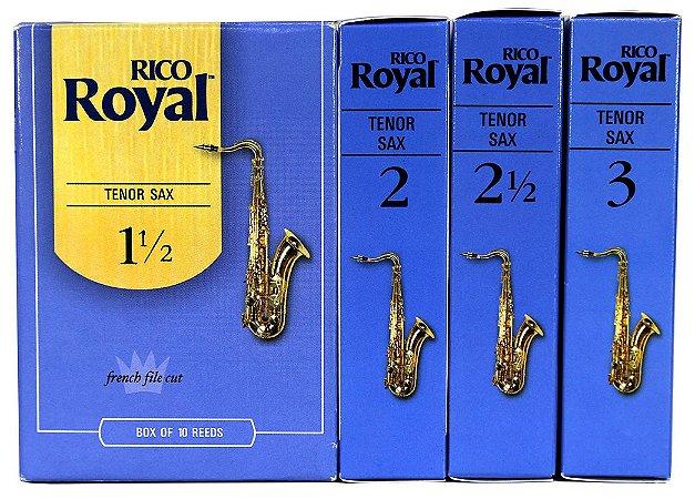 Palhetas Rico Royal Sax Tenor Caixa Com 10 + Brinde