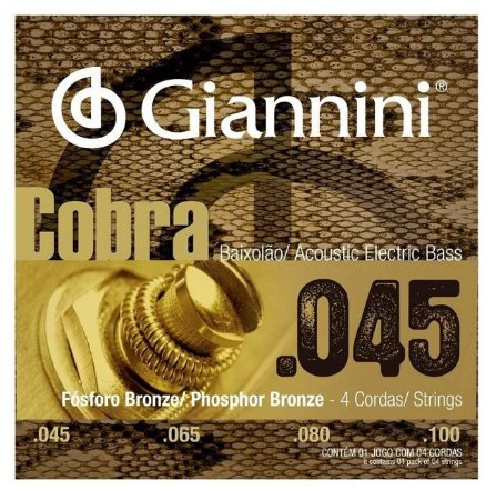 Encordoamento Baixolão Giannini Phosphor Bronze 0.45 Cobra