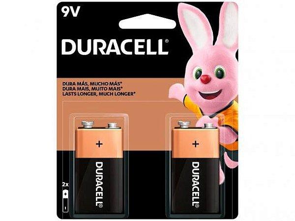 Pilha Bateria Duracell 9V Com 2 Unidades