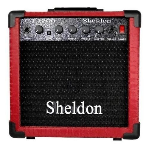 Amplificador Guitarra Sheldon GT-1200 Vermelha 15W