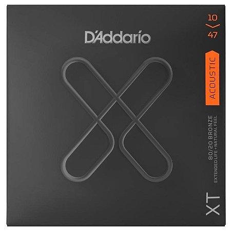 Encordoamento Violão D'Addario XTABR 010 Tensão Extra Leve