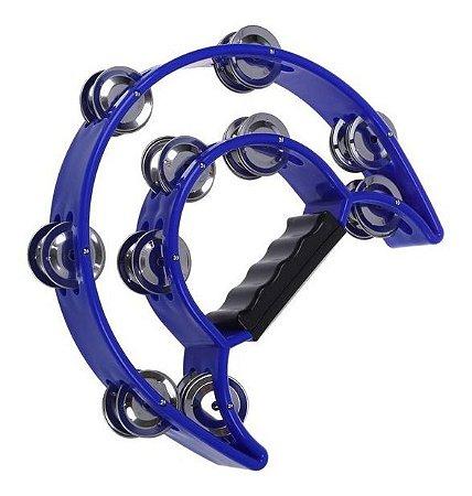 Pandeiro Meia Lua Duplo Azul Hook