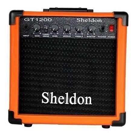 Amplificador Guitarra Sheldon GT-1200 Laranja 15W