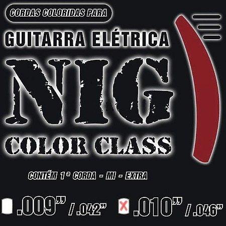 Encordoamento Guitarra NIG N-1641 Color Class 0.10 Vermelho