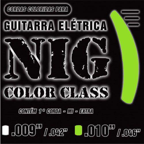 Encordoamento Guitarra NIG N-1644 Color Class 0.10 Verde