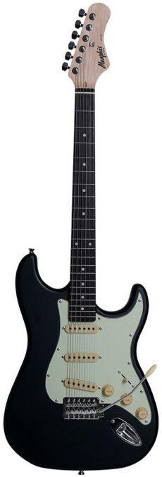 Guitarra Memphis Strato MG-30 BKS Preta Fosca