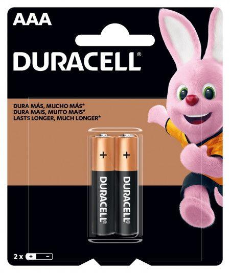 Pilha Palito Duracell AAA 1.5V Alcalina Com 2 Unidades