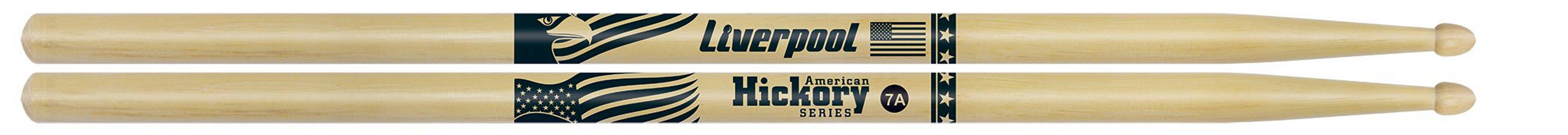 Baqueta Liverpool Hickory 7A Ponta Madeira