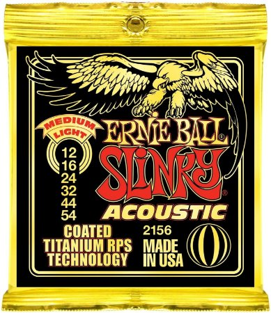 Encordoamento Violão Ernie Ball Slinky 2156 Coated Titanium Medium Light 012