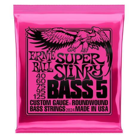 Encordoamento Baixo Ernie Ball Super Slinky 2824 5 Cordas 040