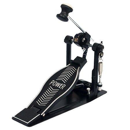 Pedal de Bumbo Simples Turbo Power PP Com Sapata