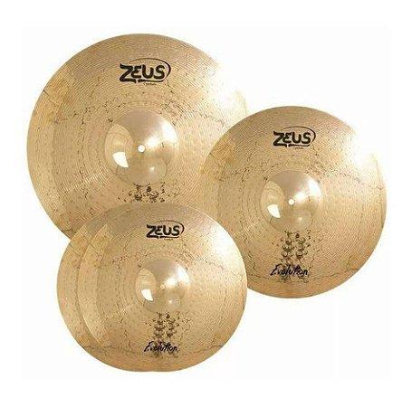 """Set Prato Zeus Evolution B10 Set C 14"""" 16"""" 20"""" Com Bag"""
