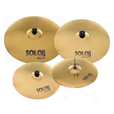 "Set Prato Orion Solo Pro 10 14"" 16"" 18"" 20"" Com Bag - SP103"