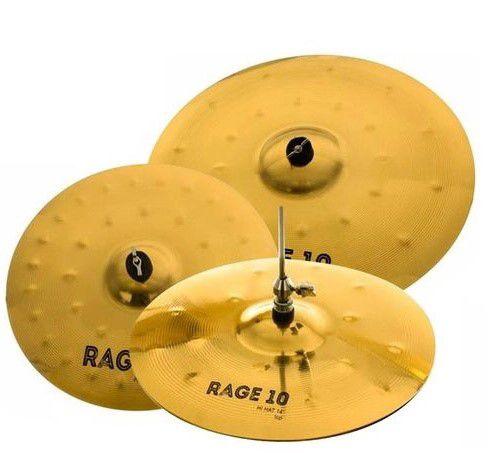 """Set Prato Orion Rage 10 - 14"""" 16"""" 20"""" RG70 com Bag"""