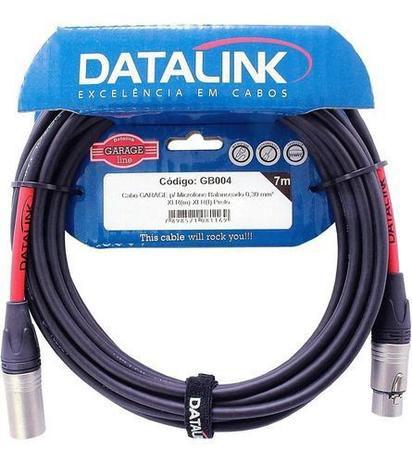 Cabo Datalink Garage Microfone Balanceado 0,30mm²  XLR(m)-XLR(f) 7m