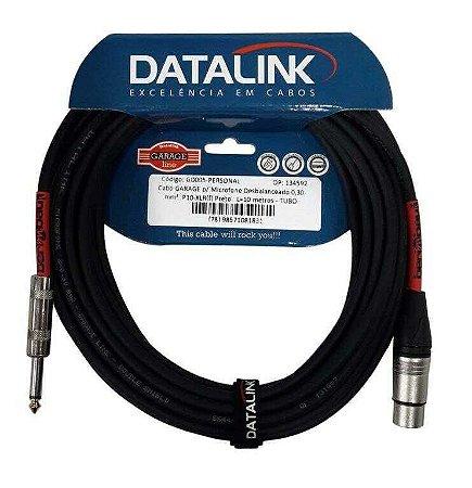 Cabo Datalink Garage P/ Microfone Desbalanceado 0,30mm² P10-XLR(f) 10m