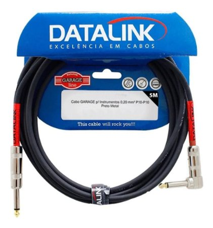 Cabo Datalink Garage Instrumento 0,20mm² P10-P10 (90°) 5m