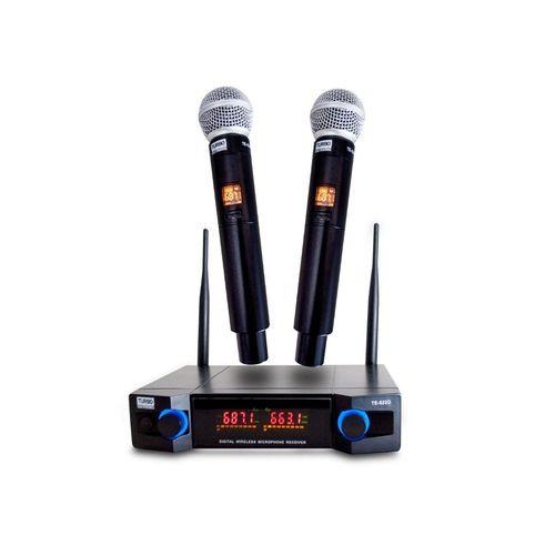 Microfone sem Fio Duplo Mão TE-822D Turbo