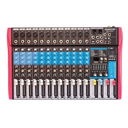 Mesa de Som Soundvoice MS 122 EUX 12 Canais EF/EQ