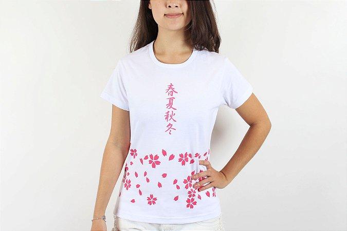 Camiseta Sakura Branco - Yunitto Lab
