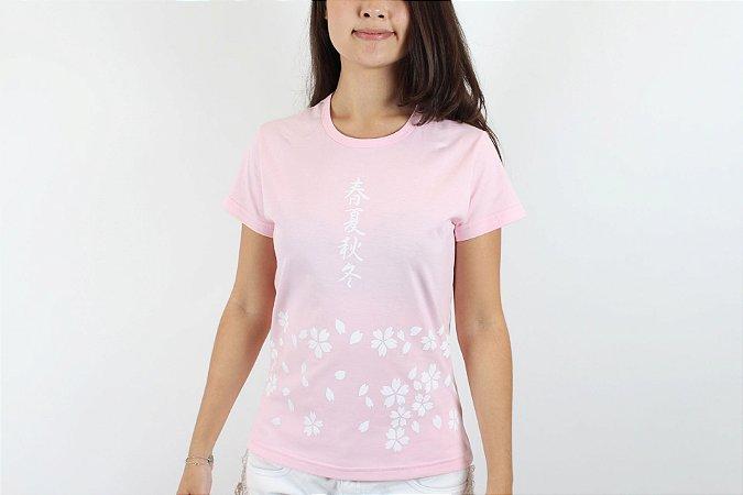 Camiseta Sakura Rosa - Yunitto Lab