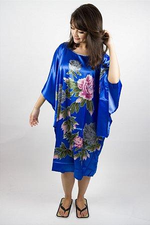 Kaftan Flor Azul