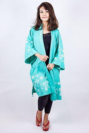 Happi Sakura Azul Turquesa - Yunitto Lab