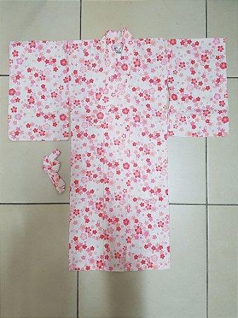 Kimono Infantil Sakura Rosa- Yunitto Lab