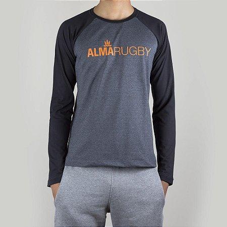 Camiseta Raglan Rugby Black&Grey Origens