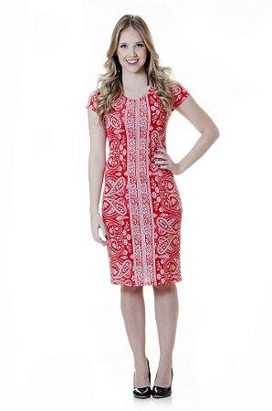 Vestido Paisley Vermelho